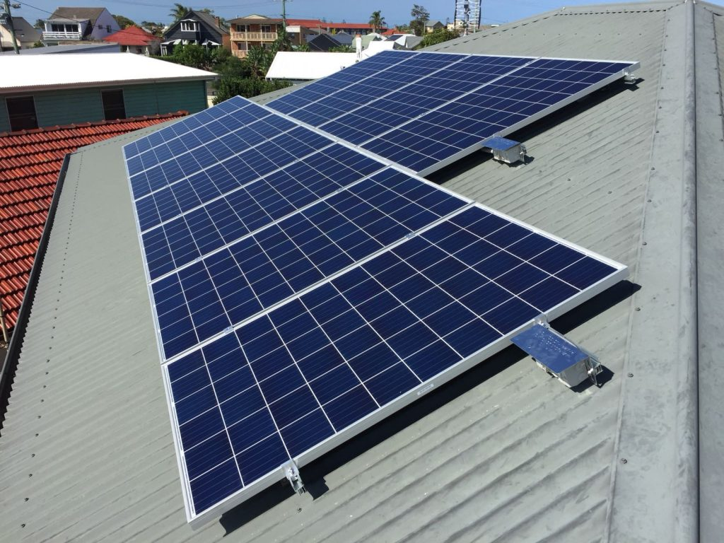 11 solar panels on roof in stockton, newcastle, new south wales