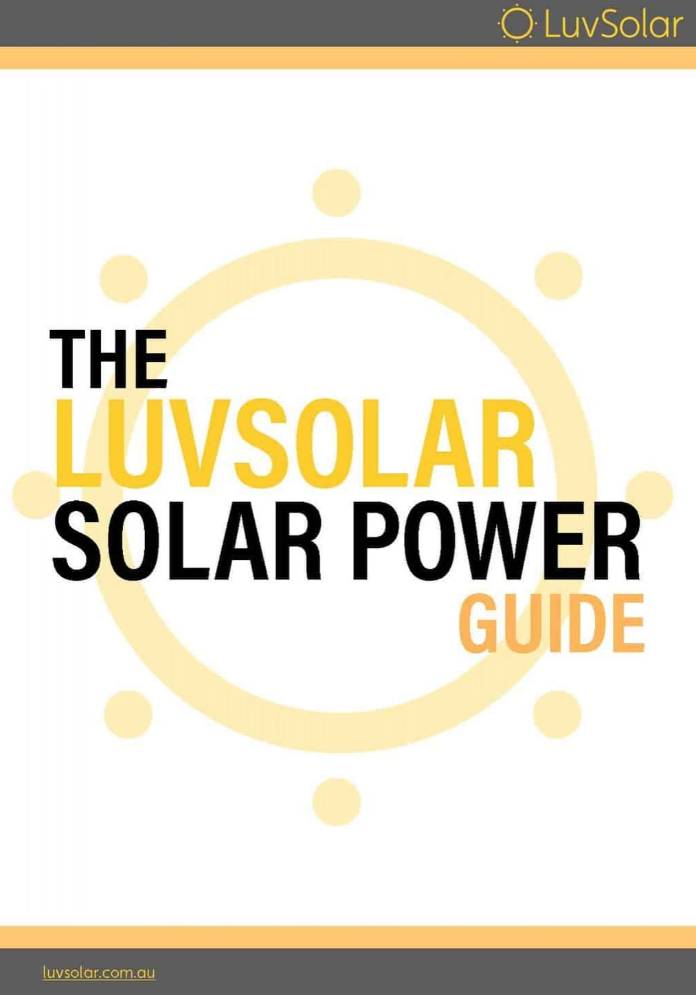 LuvSolar Buyer's Guide front-page